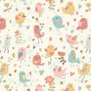 imagem do Papel de Parede Adesivo Vector Birds/Rolo