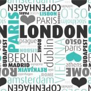imagem do Papel de Parede Europe Cities/Rolo