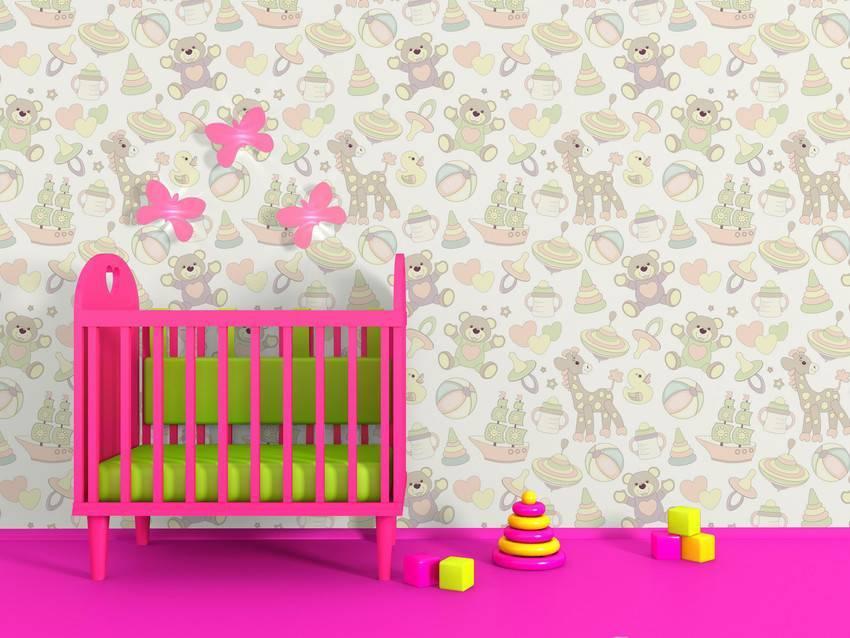 Papel de Parede Adesivo Coisas de Bebe /Rolo imagem 2