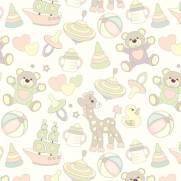 imagem do Papel de Parede Adesivo Coisas de Bebe /Rolo