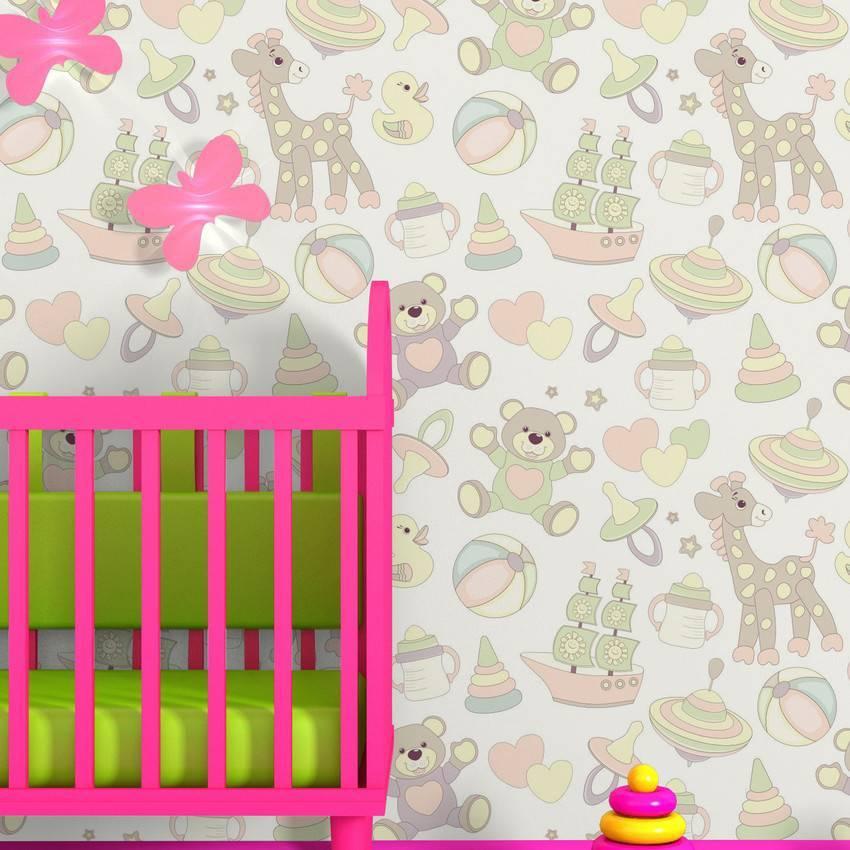 Papel de Parede Adesivo Coisas de Bebe /Rolo imagem 3