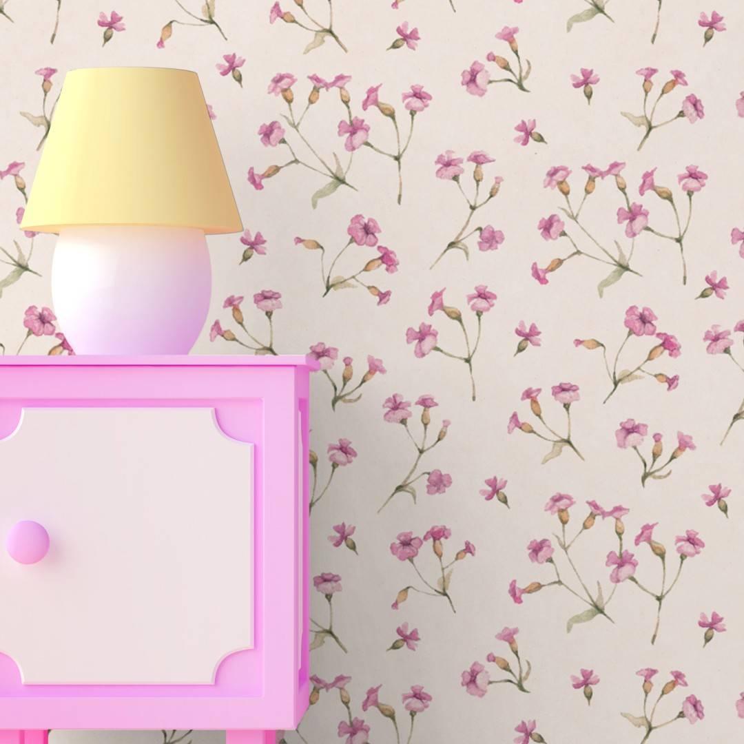 Papel de Parede Adesivo Floral /Rolo imagem 4