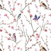 imagem do Papel de Parede Pássaros | Adesivo Vinílico