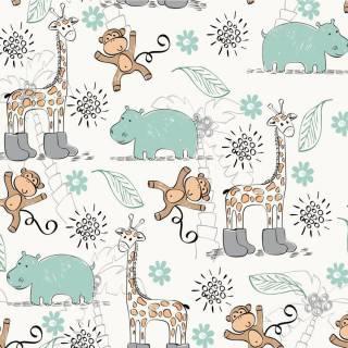 Papel de Parede Adesivo Animais da Floresta /Rolo   Redecorei
