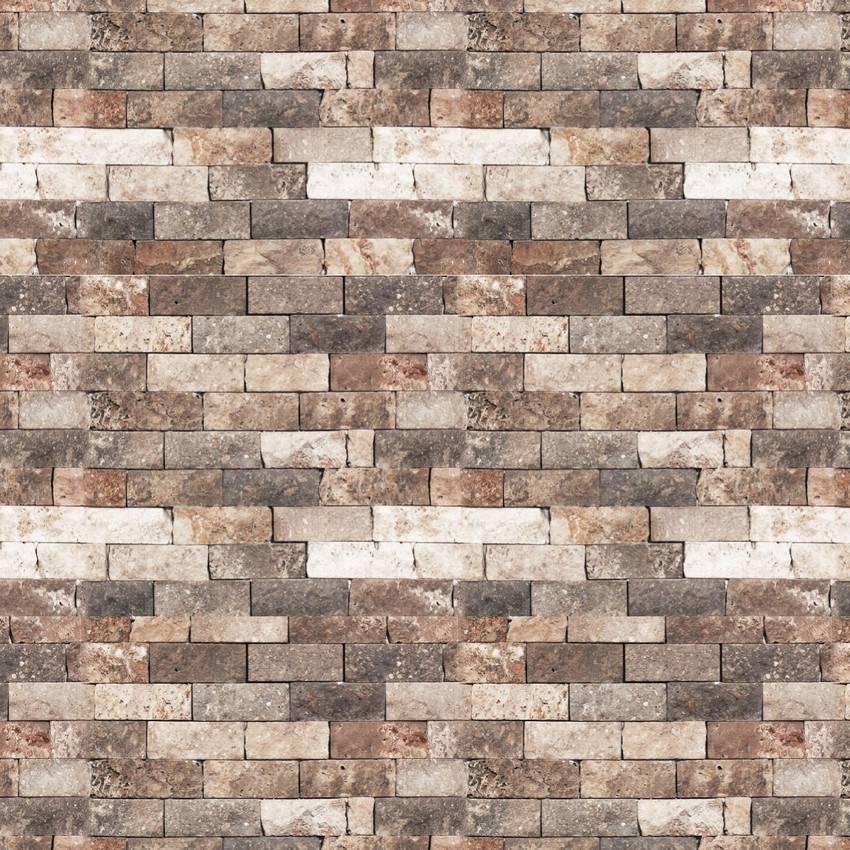 Papel de Parede Tijolinho Marrom | Adesivo Vinílico imagem 2