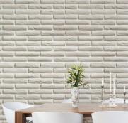 imagem do Papel de Parede Tijolo Branco | Adesivo Vinilico