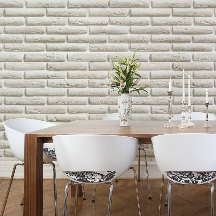 Papel de Parede Tijolo Branco | Adesivo Vinilico imagem 4