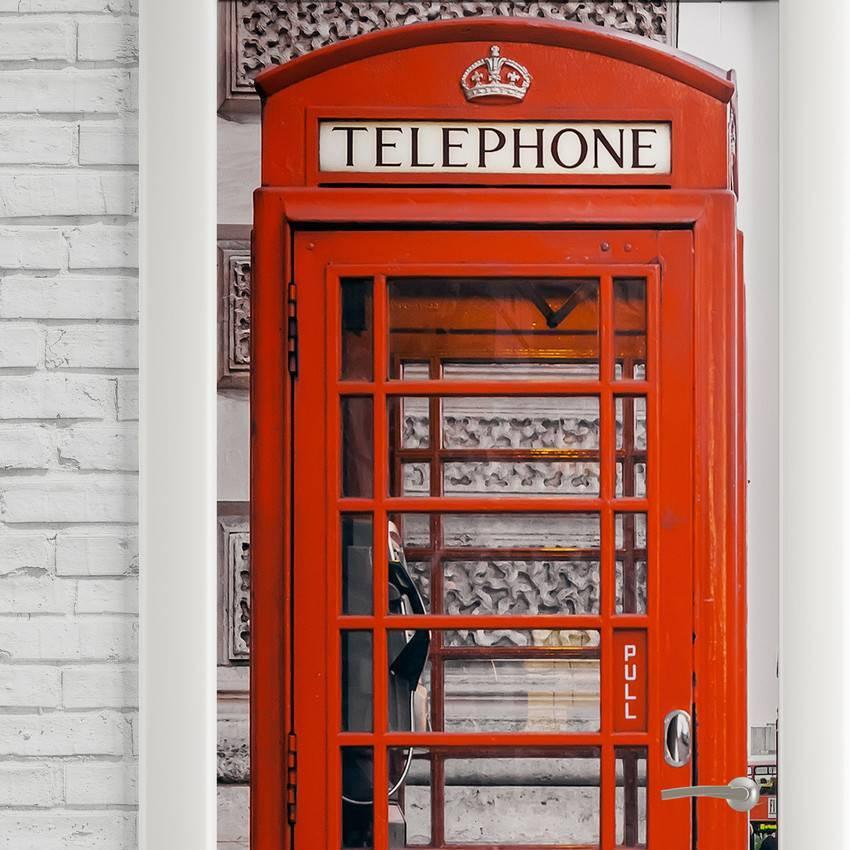 Adesivo Para Porta Cabine Telefônica Londres imagem 2