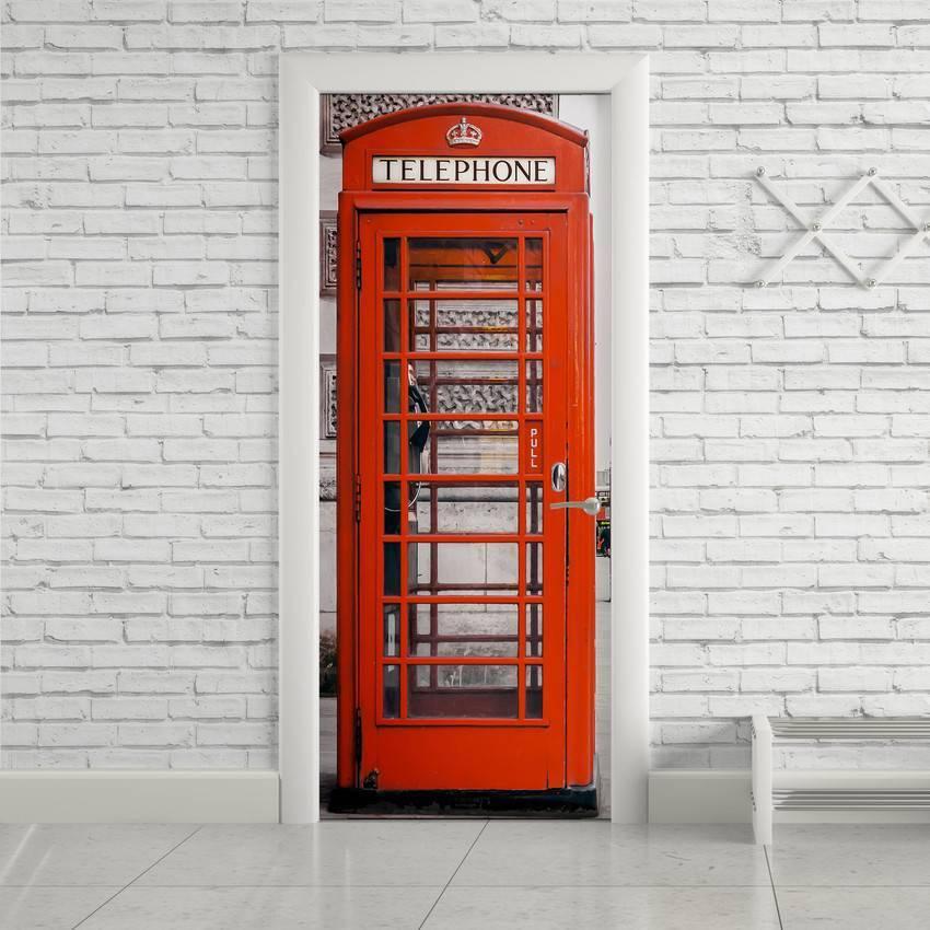 Adesivo Para Porta Cabine Telefônica Londres imagem 1