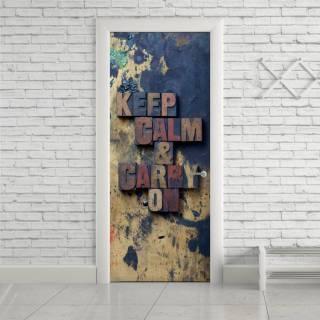 Adesivo Para Porta Keep Calm