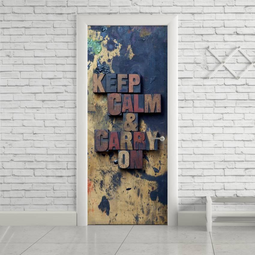 Adesivo Para Porta Keep Calm imagem 1