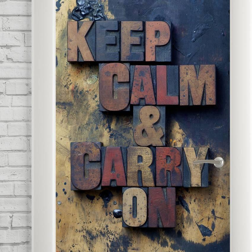 Adesivo Para Porta Keep Calm imagem 2