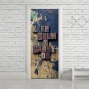 imagem do Adesivo Para Porta Keep Calm