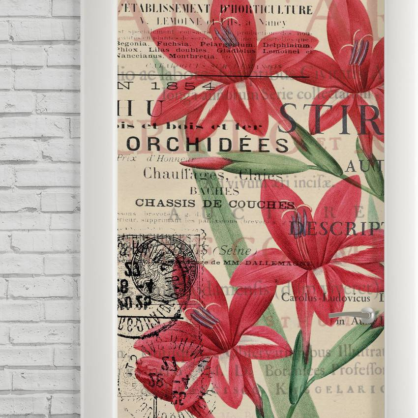 Adesivo Para Porta Flores Vintage imagem 2