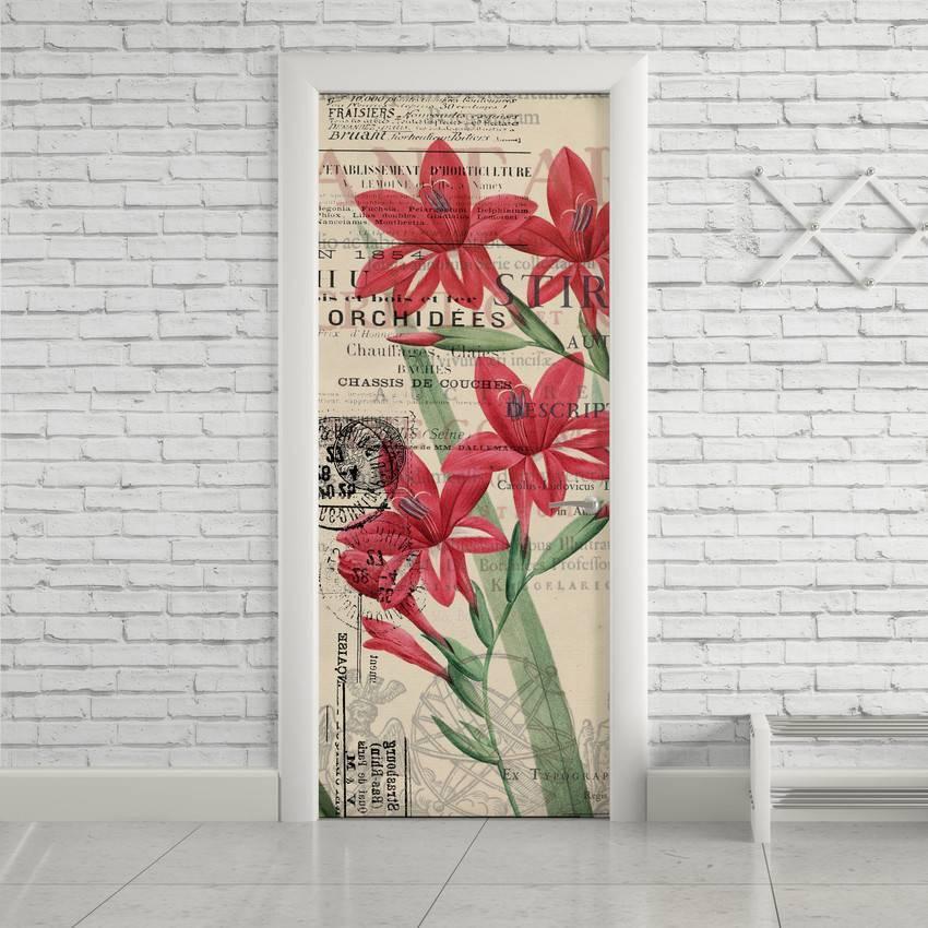 Adesivo Para Porta Flores Vintage imagem 1