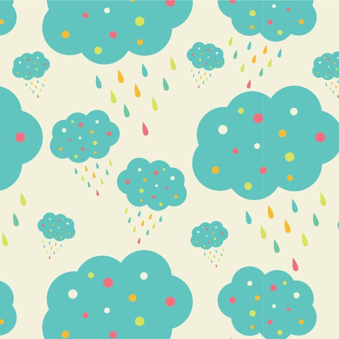 Papel de Parede Nuvens Azul | Adesivo Vinilico  imagem 1