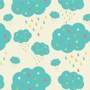 imagem do Papel de Parede Nuvens Azul   Adesivo Vinilico