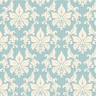 Papel de Parede Arabesco Azul e Branco| Adesivo Vinilico