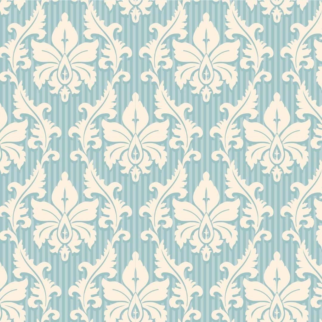 Papel de Parede Arabesco Azul e Branco| Adesivo Vinilico imagem 1