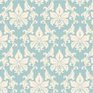 imagem do Papel de Parede Arabesco Azul e Branco| Adesivo Vinilico