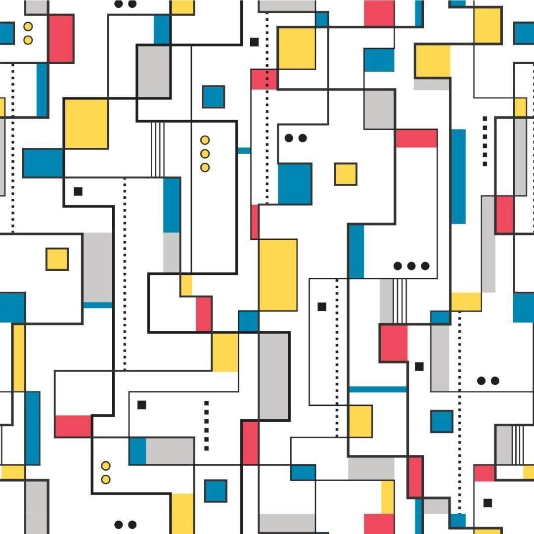 Papel de Parede Adesivo Mosaico Teen /Rolo imagem 1
