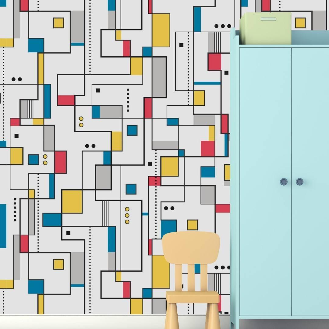 Papel de Parede Adesivo Mosaico Teen /Rolo imagem 2