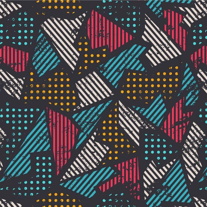 Papel de Parede Geometrico Colorido | Adesivo Vinilico   imagem 1