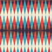 imagem do Papel de Parede Geométrico Vermelho