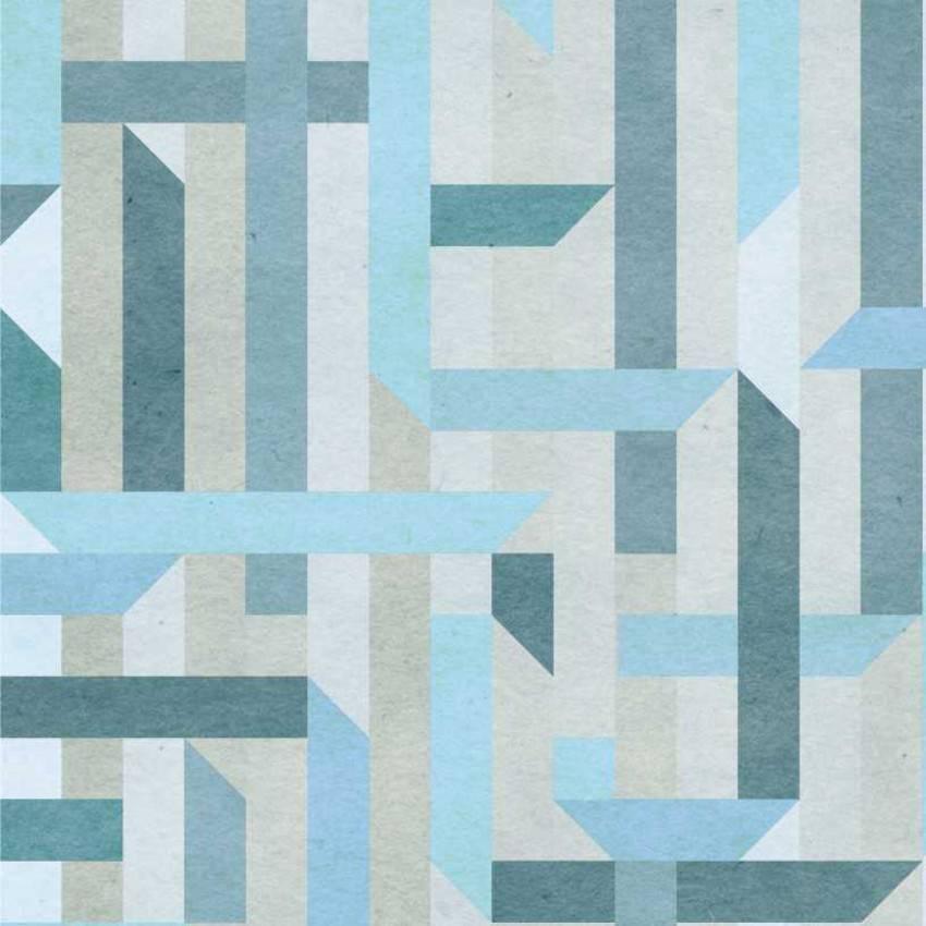 Papel de Parede Azul |Adesivo Vinilico  imagem 1