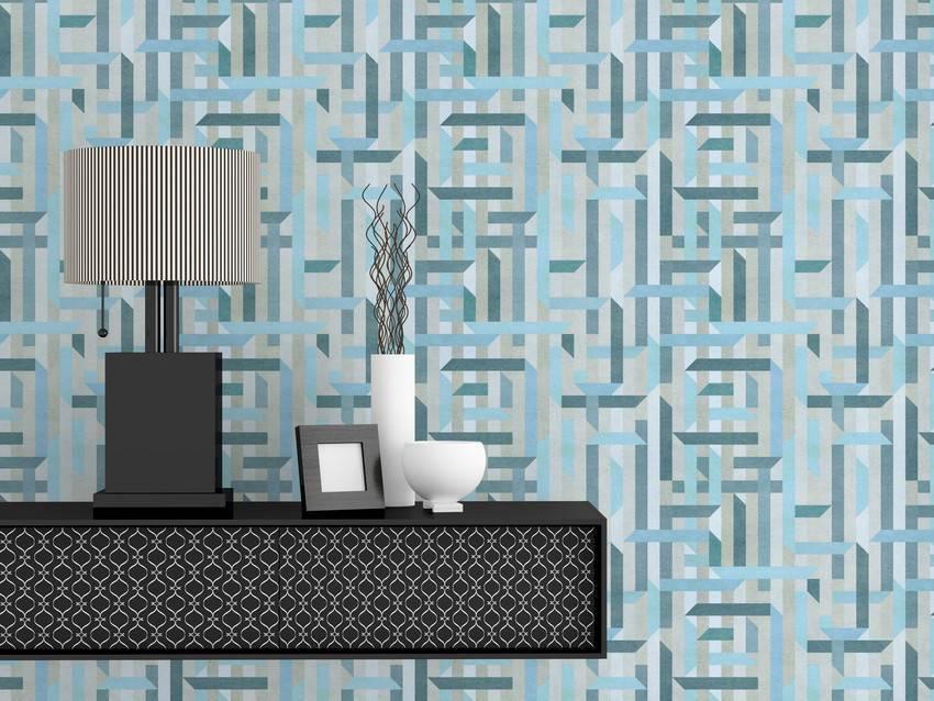 Papel de Parede Azul |Adesivo Vinilico  imagem 4