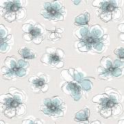 imagem do Papel de Parede Flores Azuis   Adesivo Vinilico