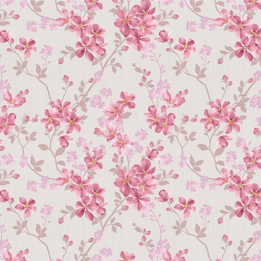 Papel de Parede Adesivo Floral /Rolo - Redecorei