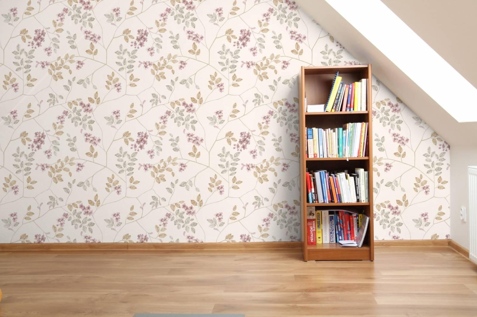 Papel de Parede Adesivo Floral /Rolo imagem 3
