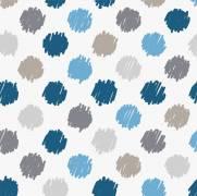 imagem do Papel de Parede Poá Azul/Rolo