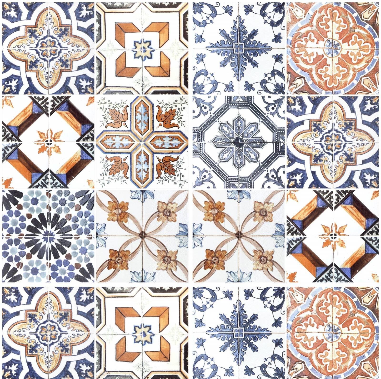 Adesivo para azulejo retro mescla clara redecorei for Azulejo sobre azulejo