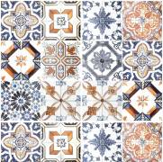 imagem do Adesivo para Azulejo - Retro Mescla Clara