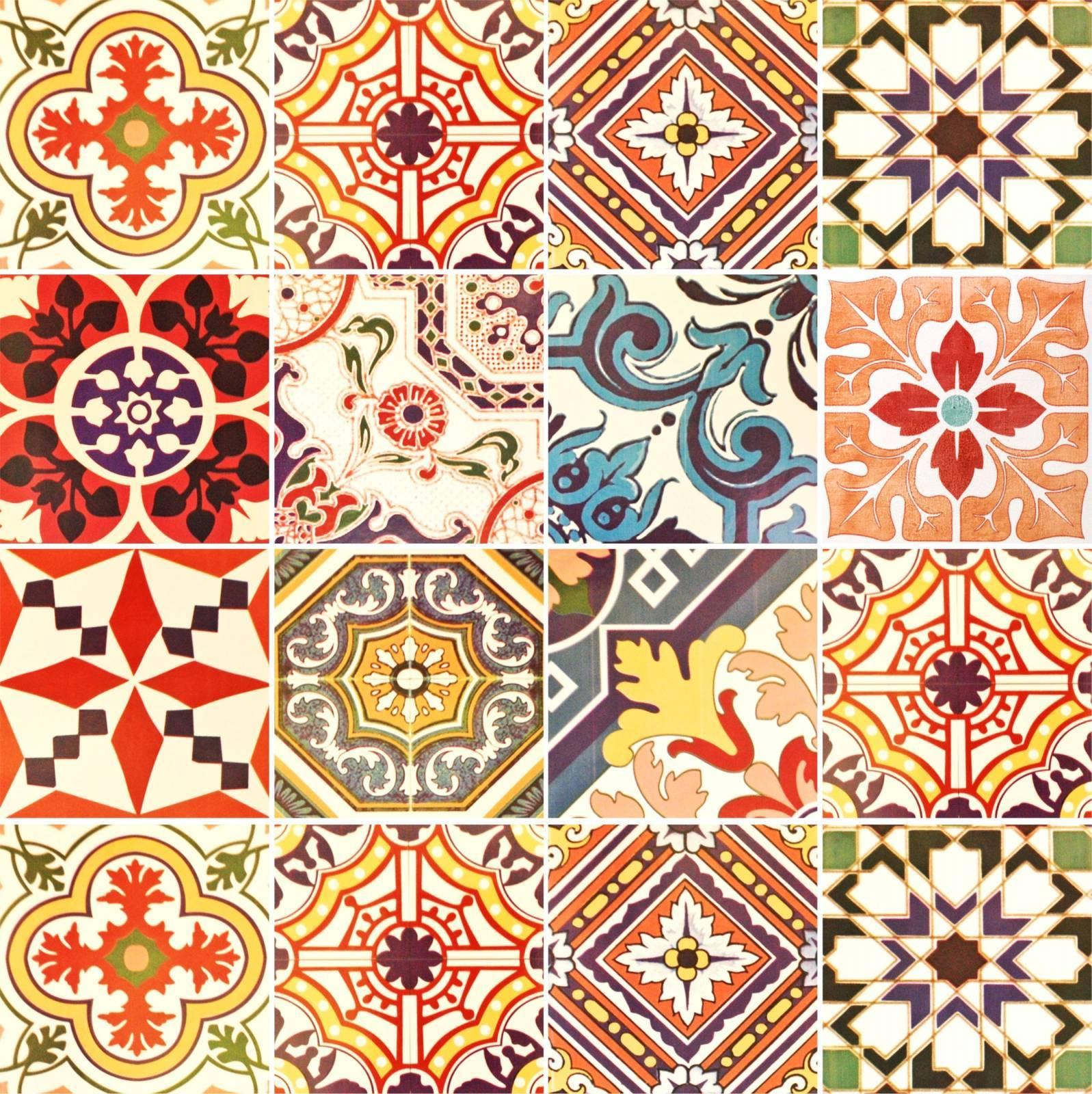Adesivo para Azulejo - Retro Mescla Forte  imagem 1
