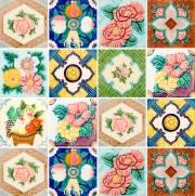 imagem do Adesivo para Azulejo - Flores