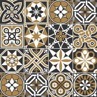 Adesivo para Azulejo - Preto Marrom
