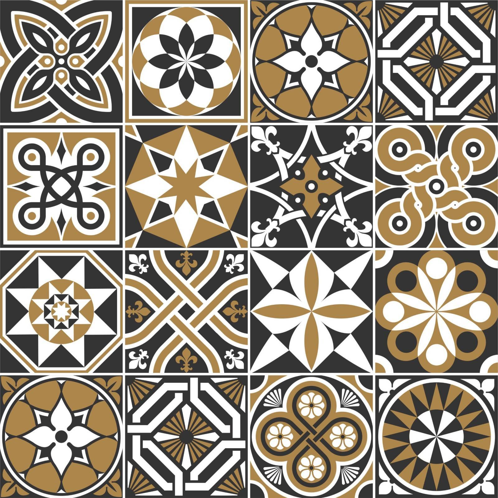 Adesivo para Azulejo - Preto Marrom  imagem 1