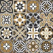 imagem do Adesivo para Azulejo - Preto Marrom