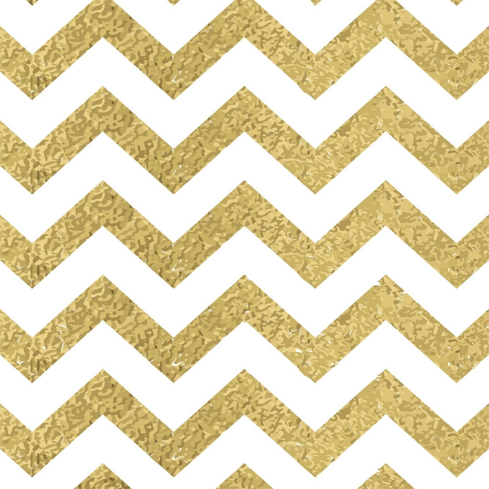 Papel de Parede Chevron Dourado/Rolo  imagem 1