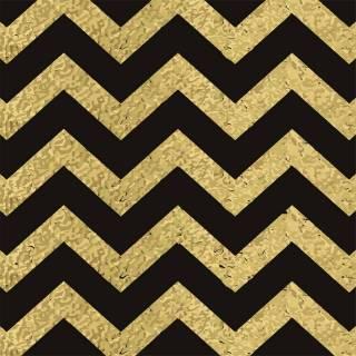 Papel de Parede Chevron Dourado e Preto | Redecorei