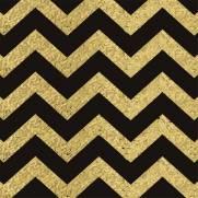 imagem do Papel de Parede Chevron Dourado e Preto/Rolo