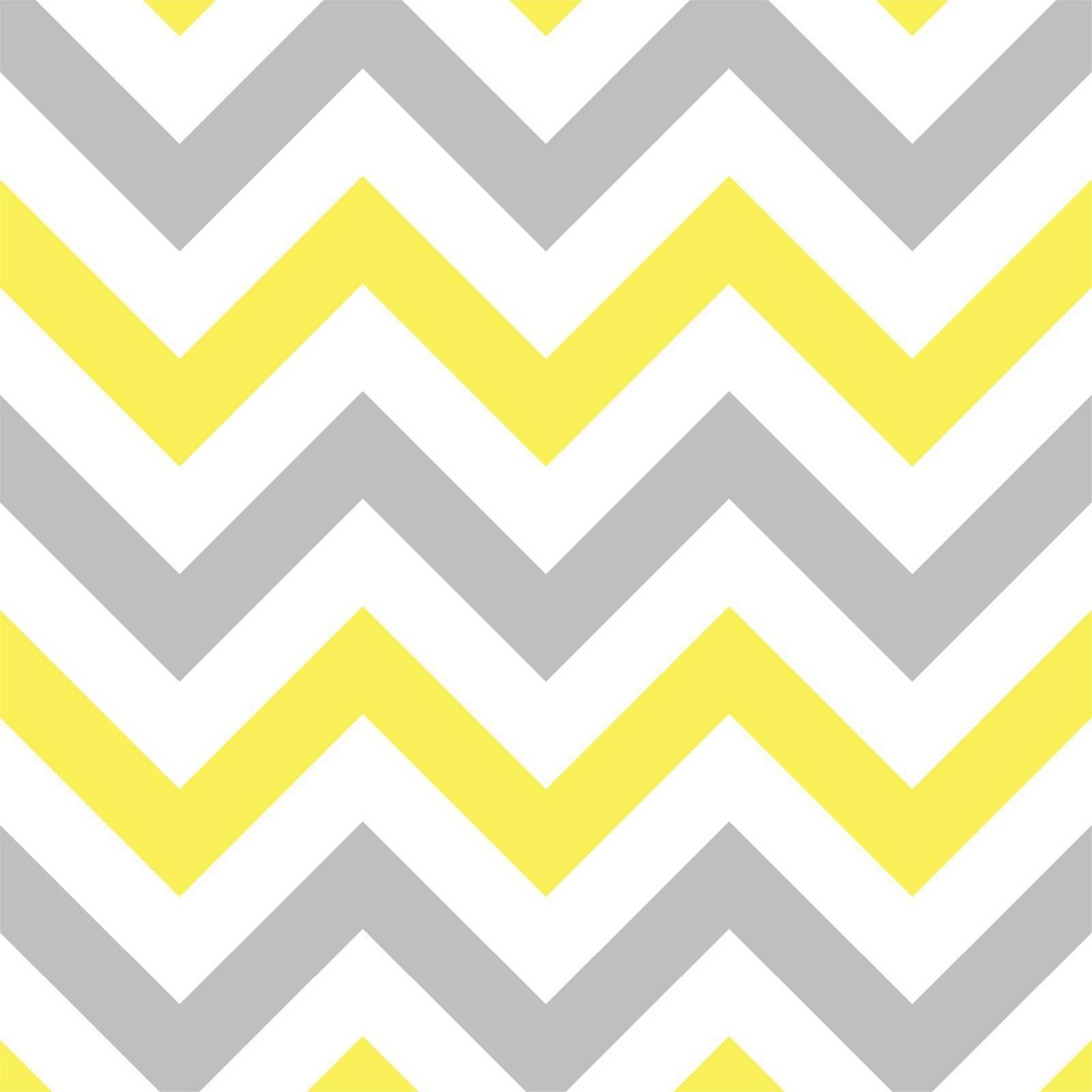 Papel de Parede Chevron Amarelo e Cinza/Rolo   imagem 1