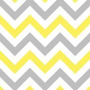 imagem do Papel de Parede Chevron Amarelo e Cinza/Rolo