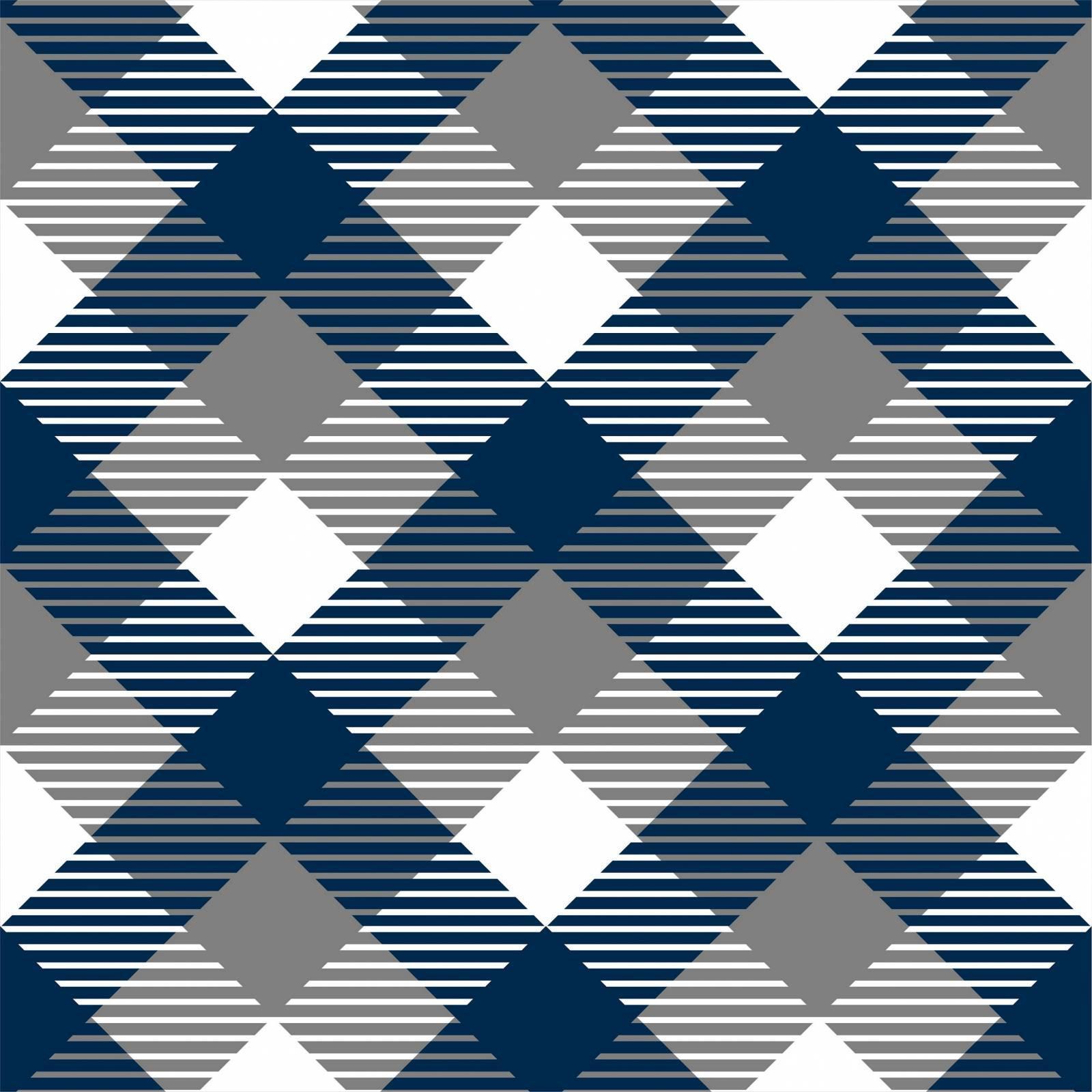 Papel de Parede Xadrez Azul | Adesivo Vinilico imagem 1