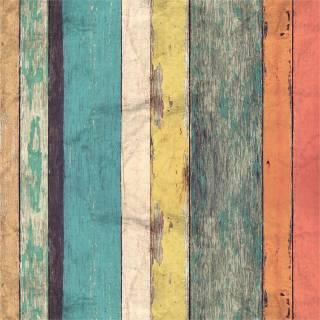 Papel de Parede Madeira de Demolição Colorida/Rolo
