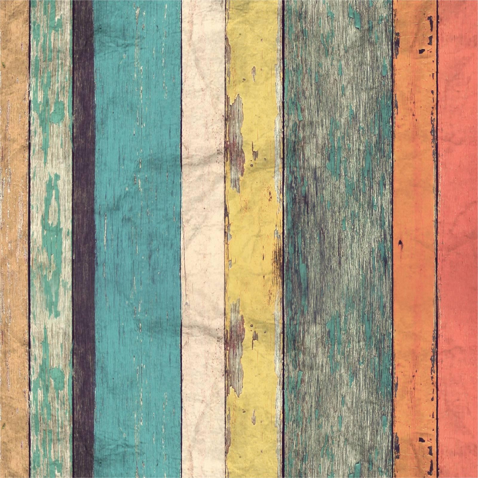 Papel de Parede Madeira Colorida | Adesivo Vinilico imagem 1