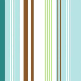 Papel de Parede Listrado Azul e Verde | Adesivo Vinilico